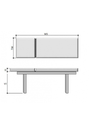 Letto struttura in legno ad uno snodo e due sezioni